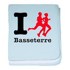 I Run Basseterre baby blanket