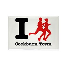 I Run Cockburn Town Rectangle Magnet