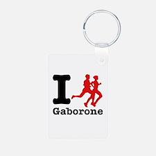 I Run Gaborone Keychains