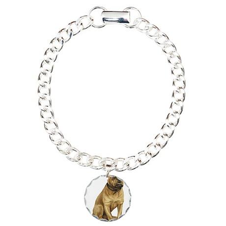 Sitting Bulldog Charm Bracelet, One Charm
