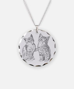 Two Tabby kittens Necklace
