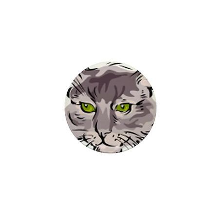 Cat Face Mini Button (100 pack)