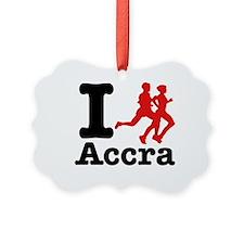 I Run Accra Ornament