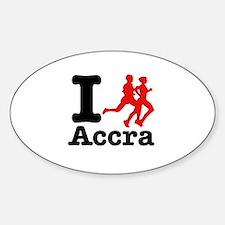 I Run Accra Decal