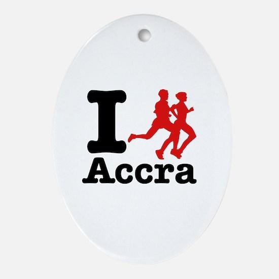 I Run Accra Ornament (Oval)