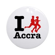 I Run Accra Ornament (Round)