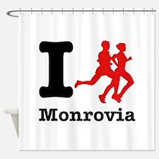 I Run Monrovia Shower Curtain