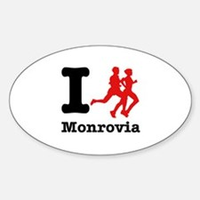 I Run Monrovia Sticker (Oval)