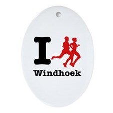 I Run Windhoek Ornament (Oval)