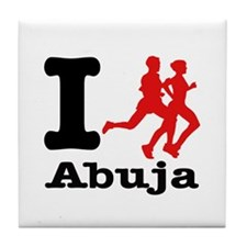 I Run Abuja Tile Coaster