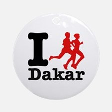 I Run Dakar Ornament (Round)