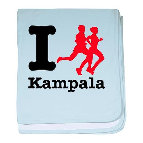 I Run Kampala baby blanket