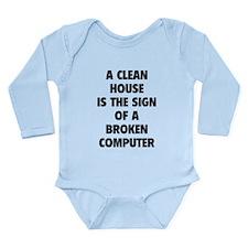 Broken Computer Long Sleeve Infant Bodysuit