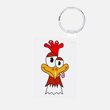 Crazy Chicken Head Keychains