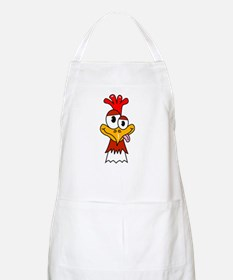 Crazy Chicken Head Apron
