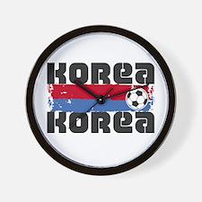 Korea Soccer Wall Clock