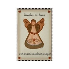 Mother-in-laws are angels without wings Rectangle