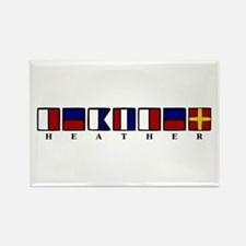 Nautical Heather Rectangle Magnet (10 pack)