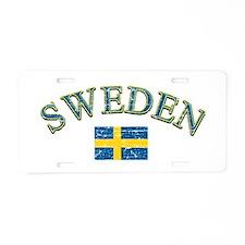 Sweden Soccer Designs Aluminum License Plate
