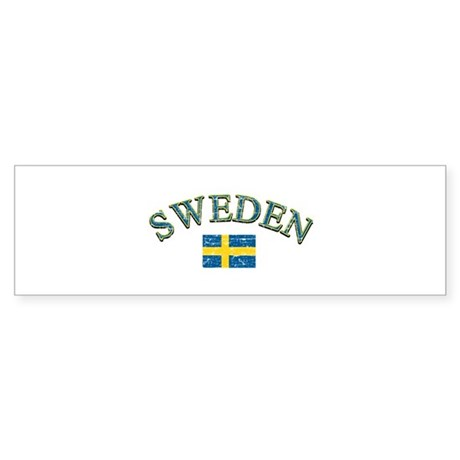 Sweden Soccer Designs Sticker (Bumper)