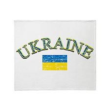 Ukraine Soccer Designs Throw Blanket