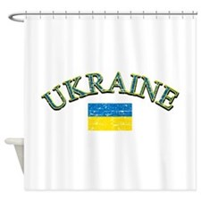 Ukraine Soccer Designs Shower Curtain