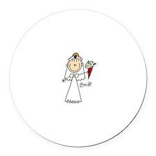 Stick Figure Bride Magnet