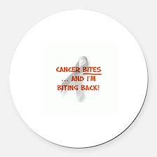 Cancer bites, hazard orange Magnet