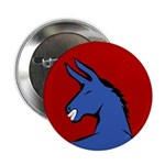 Smiling Democratic Donkey Button