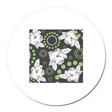 Green Hibiscus Print Magnet