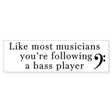 Bass Player Bumper Sticker