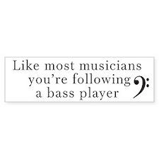 Bass Player Car Sticker