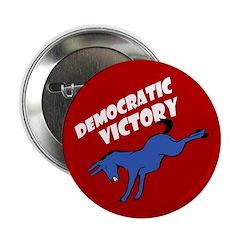 Democratic Victory Button