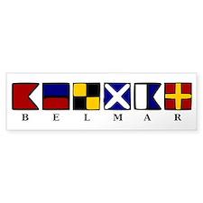 Nautical Belmar Bumper Sticker