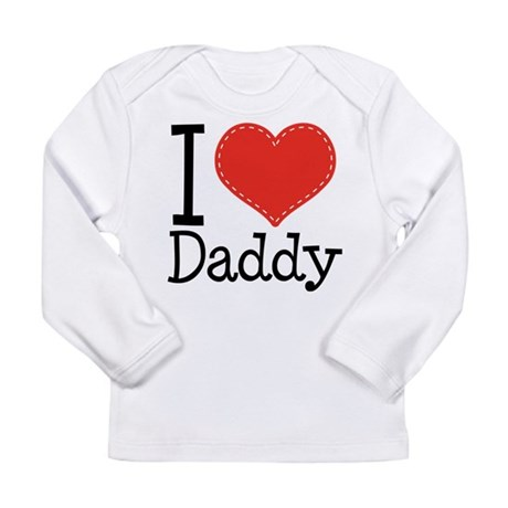 I Heart Daddy Long Sleeve Infant T-Shirt