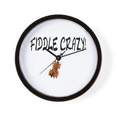 Crazy Fiddler! Wall Clock