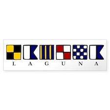 Nautical Laguna Bumper Sticker