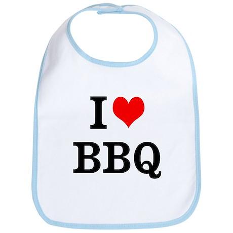 I Love BBQ Bib