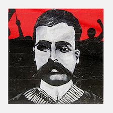 Mexico Emiliano Zapata Grafitti Art Tile Coaster