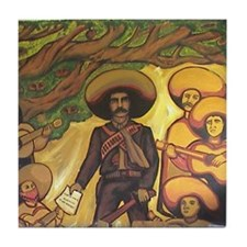 Emiliano Zapata Mexican Revolution Tile Coaster