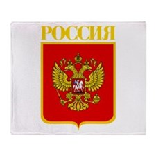 Russian Federation COA Throw Blanket
