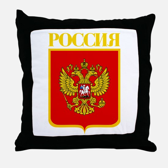 Russian Federation COA Throw Pillow