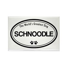 World's Greatest Schnoodle Rectangle Magnet