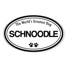 World's Greatest Schnoodle Oval Decal