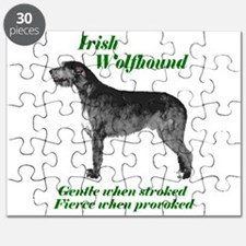 Irish Wolfhound Gentle when stroked Puzzle