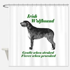 Irish Wolfhound Gentle when stroked Shower Cur