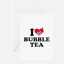 I love Bubble Tea Greeting Card