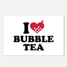 I love Bubble Tea Postcards (Package of 8)