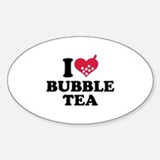 I love Bubble Tea Sticker (Oval)