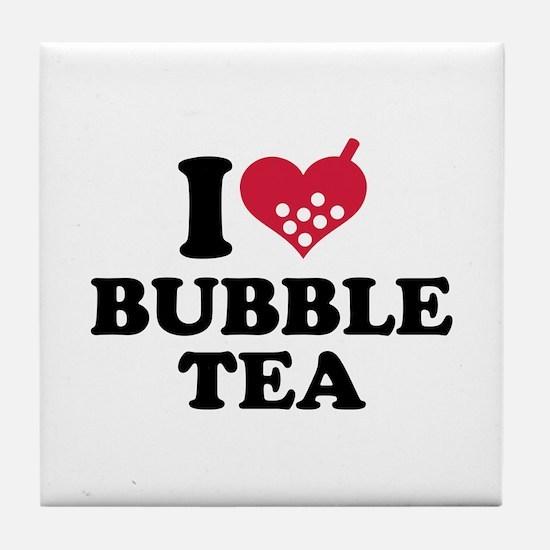 I love Bubble Tea Tile Coaster